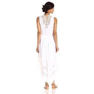 NY Collection sleeveless boho maxi dress M